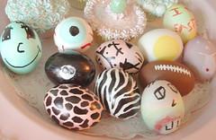 More Easter Eggs (Shabby Boutique) Tags: face ball easter football egg stripe 8 eyeball