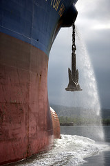 Anchor Wash (justb) Tags: water vancouver canon ship bc harbour anchor tugboat tug cates secondnarrows shipanchor justb 40d anchorwash