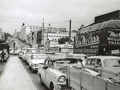 Traffic congestion (State Records NSW) Tags: blackandwhite streets cars buses buildings traffic sydney broadway vehicles archives shops newsouthwales valiant trucks chrysler streetscape 1962 automobiles taxicabs rv1 parramattaroad gracebrothers gracebros rseries staterecordsnsw historypin