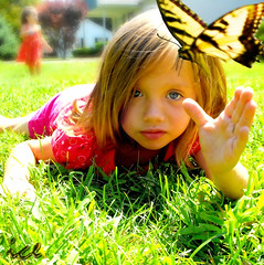 Amelia Catching Butterfly (Dr Freezo) Tags: summer portrait beautiful wow butterfly colorful creative blond littlegirl 1stplace topquality hiddentreasure abigfave childmodel royalgroup diamondheart superaplus aplusphoto icephotography ithinkthisisart flickrdiamond eyecandyartpost originalpictures thecoolestdamncoolphotographersintheworld thebestofflickr photosthatrock theicegallery kidpicsthatwowus damniwishidtakenthat photographersgonewild photographersreallygonewild goldenheartaward 100commentgroup grouptripod damnfinepicture memorycorner highcreativityaward drfreezo reflectyourworld honormask thebigblueplanet crystalglobeaward memorycornerportraits icephotodesign catchingbutterfly