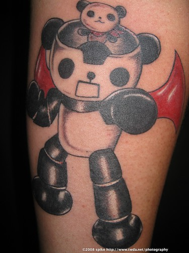 funny tattoos. Funny Panda Tattoo