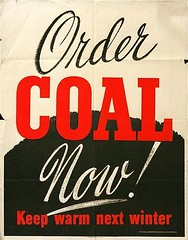 Order Coal Now! (typographyshop) Tags: typography script coal handdrawn wwiiposter