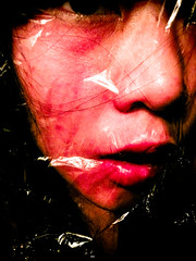 Day 43 (Capturing Moods) Tags: red girl female death blood plastic redlipstick asiangirl femaleportrait project365 365days bodywrap fauxdeath
