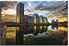 NV Reflections (Muzammil (Moz)) Tags: uk beautiful reflections landscape manchester photography moz salfordqueys nvbuildings conon400d lowerymall nvreflections afraaz muzammilhussain