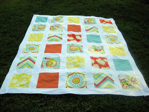 Windows on Pop Garden Quilt Top