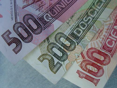 Billetes De Mexico. Unos illetes, México DF 080729