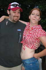 TiTo and the birthday girl (jillymcjillerson) Tags: birthdayparty smoking belly redneck kendra checkered whitetrash hootenanny amazingtito southernstereotypes