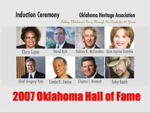 2007 Oklahoma Hall of Fame Inductees