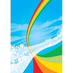 The Colours I've Been Dreaming Of (bentheillustrator) Tags: world sky art illustration landscapes view ben prints illustrator rainbows