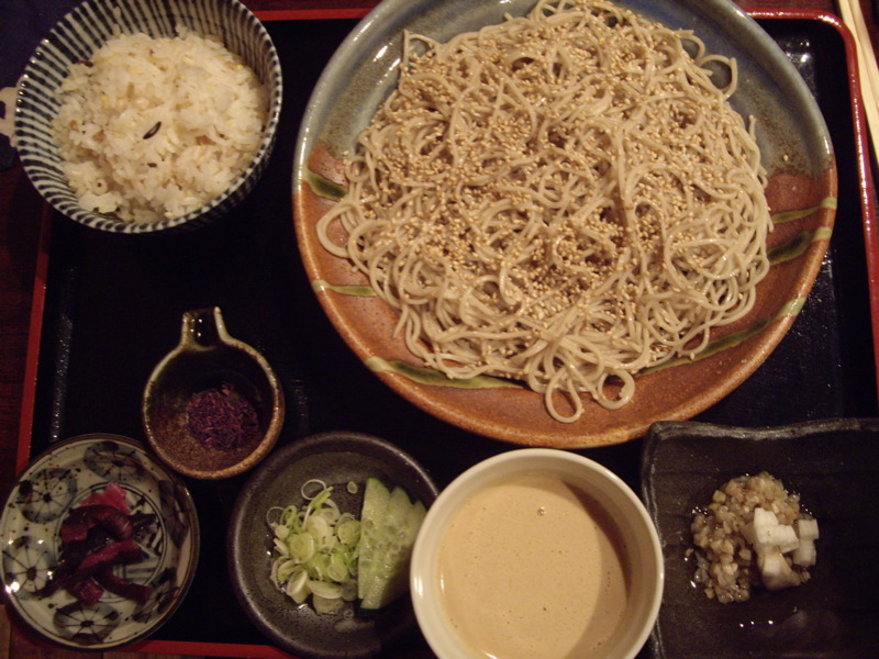 Goma Dare Soba set @ Soba Totto