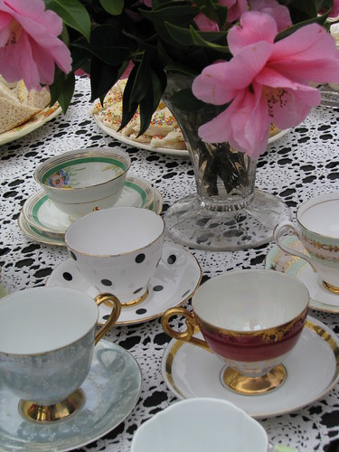 Tea cups galore!