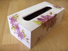 Powojniki (hanutka) Tags: vintage box handmade tissue craft tissuebox decoupage pudełko robótki