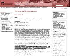 ETH Zürich Kompaktkurs zum Thema RIA und AJAX