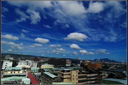 辛樂克颱風前的天空