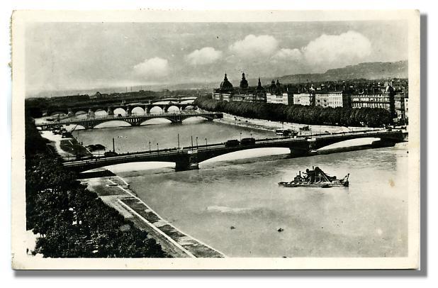 26 - LYON - Perspective des Ponts sur le Rhône