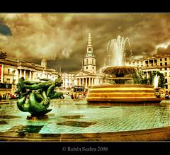 Trafalgar Square - HDR (*atrium09) Tags: travel england london fountain clouds square trafalgar olympus hdr atrium09 perfectangle ysplix rubenseabra