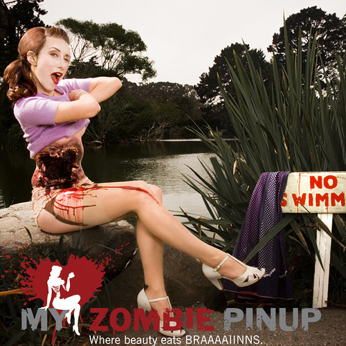pin up zombie makeup. My ZOmbie Pin up Calendar
