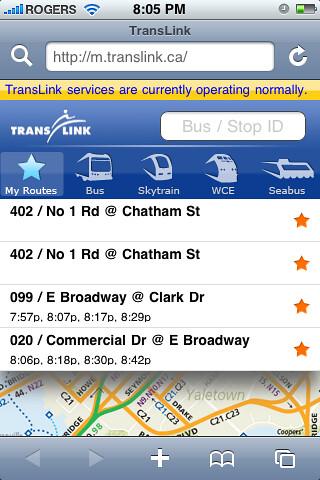 m.translink screenshot