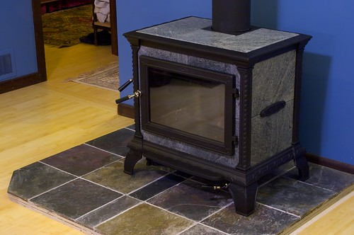 New wood stove by Adam Franco, on Flickr