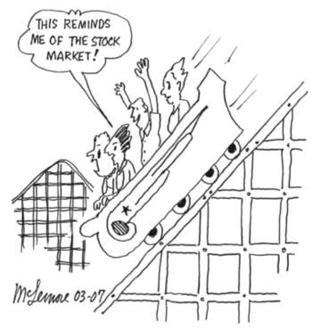 Stock market rollercoaster