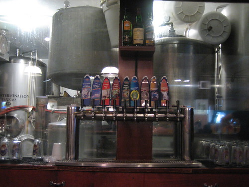 At Harmon, the brewhouse is right behind the bar. Now thats fresh!