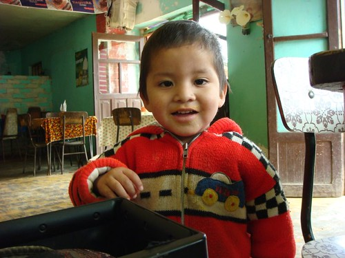 Little boy in Epizana, Bolivia.
