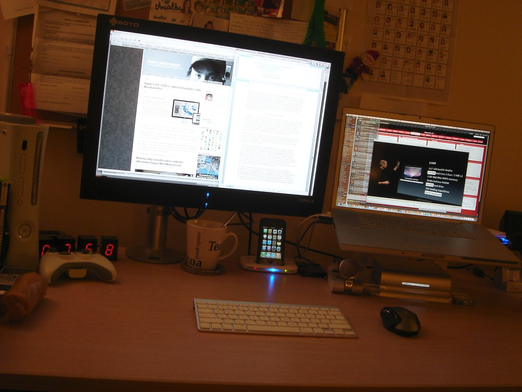 My Mac Workspace (14th Oct 2008)