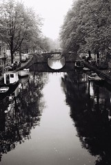 reguliersgracht, amsterdam. (csant) Tags: film blackandwhite bw balda baldessaf amsterdam water reflection reguliersgracht canal 20thcentury ilford ilfordfp4plus125 ilfordfp4plus