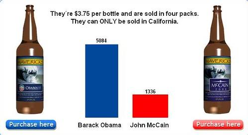 Half Moon Bay Brewing Company - alection-- obama vs. mccain 2008 -_1224520168515
