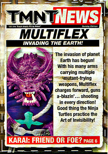 "TMNT - ""Alien Hunters"" // 'MULTIFLEX' Bio Card"