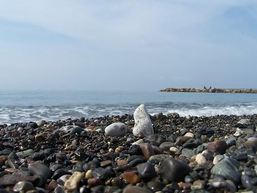Una foto scattata a Marina di Cecina, dal bagniasciuga