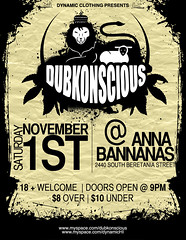 Dubkonscious (christarampi) Tags: photoshop poster cg illustrator flier dubkonscious