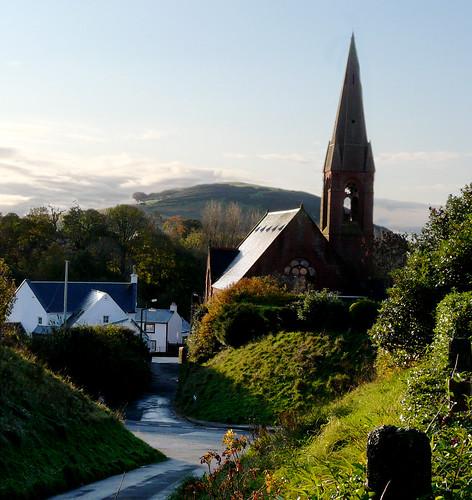 St Andrews church and Tarbert hill
