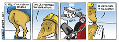 Corag, strip3 (kanjano) Tags: illustration comics comic drawing pd strip satira regime fascismo politica incidente emme veltroni abuso striscia pdl fumetto lunit dittatura opposizione mortibianche antipolitica menefreghismo psiconano kanjano mortisullavoro kanjanoferro corag decisionismo arancinocoipiedi allegatosatirico berlusconiiv digitalcolours