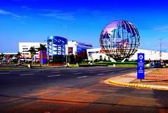 SM Mall of Asia: The 3rd largest shopping mall in the world (maraculio) Tags: world shadow color mall shopping nikon asia no sm saturation balance moa 1855mm highlight hdr 3rd levels adjustment largest postprocessing esem d40x maraculio