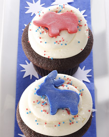 Election cupcakes from Georgetown Cupcake/Martha Stewart