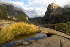 Restore - Hetch Hetchy view (Amicus Telemarkorum) Tags: california mist mountains reflection pool weather rock clouds forest landscape yosemite yosemitenationalpark sierras naturephotography hetchhetchy goldenlight hetchhetchyvalley restorehetchhetchy jeffreyrueppelphotography savehetchhetchy
