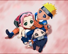 naruto-sakura-sasuke (anime27fan [gone...]) Tags: friends cute smile kids team chibi 7 sakura naruto sasuke