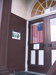 El Centro polling place welcomes you. Photo by Wendi.