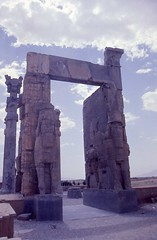Nations Gate at Persepolis (Gem Images) Tags: sculpture iran relief 1977 persepolis wingedbull fars nationsgate