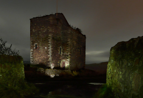 Light painting Portencross castle 14Nov08