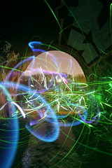 double trouble ({ tcb }) Tags: november light urban green water minnesota night painting long exposure tunnel led drain flashlight exploration spelunking ue urbex