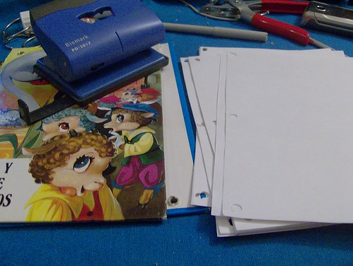 cuaderno hojas