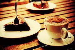(alecska) Tags: paris france café cake chocolate cappuccino gateau marchédesenfantsrouges