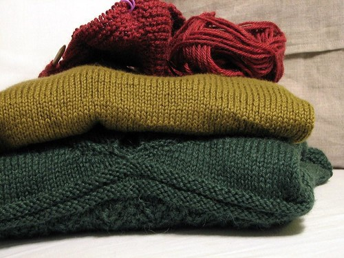stack of sweaters - WIP