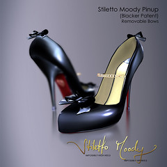 Stiletto Moody Pinup (Blacker Patent) (Stiletto Moody) Tags: black cute sexy naughty chains highheels moody shine heart chain pump strap heels stiletto bows pinup womensshoes gen2 patent moodys blacker stilettomoody impossiblyhighheels impossiblyhipheels badseedredsole stilettomoodypinup