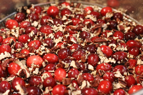 cranberry topping on the bottom