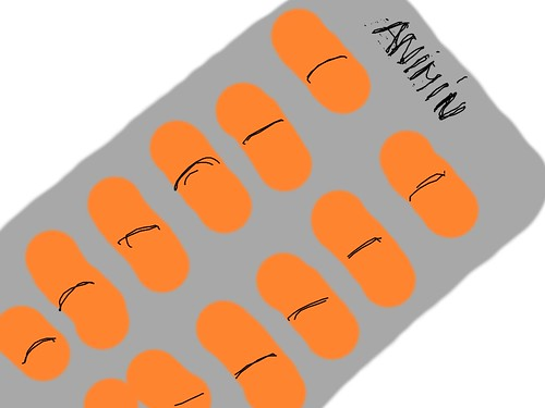 Pastillas naranjas