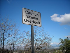 Caution Scenic Overlook