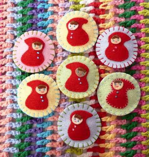 Little Red Hairclips